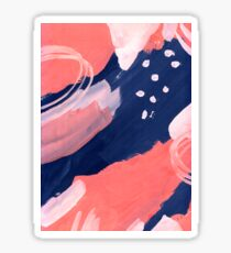 Pink Abstraction Sticker