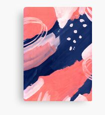 Pink Abstraction Canvas Print