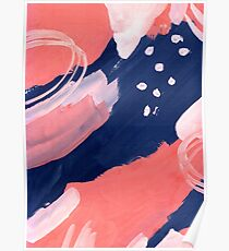 Pink Abstraction Poster