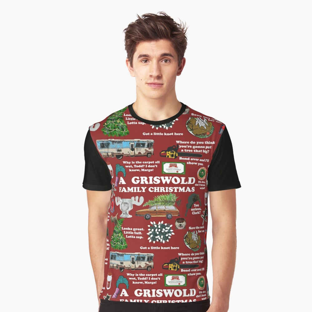 Christmas Vacation Collage Graphic T-Shirt