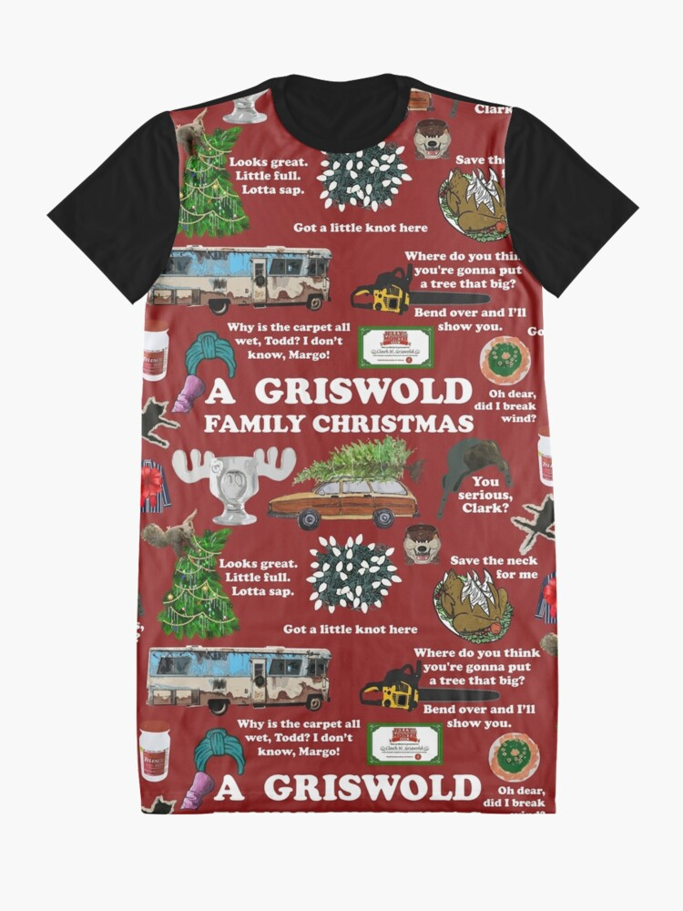 Alternate view of Christmas Vacation Collage Graphic T-Shirt Dress