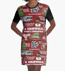 Christmas Vacation Collage Graphic T-Shirt Dress
