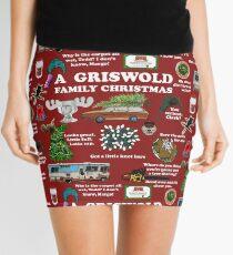 Christmas Vacation Collage Mini Skirt