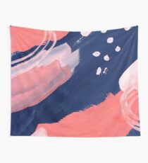Pink Abstraction Wall Tapestry