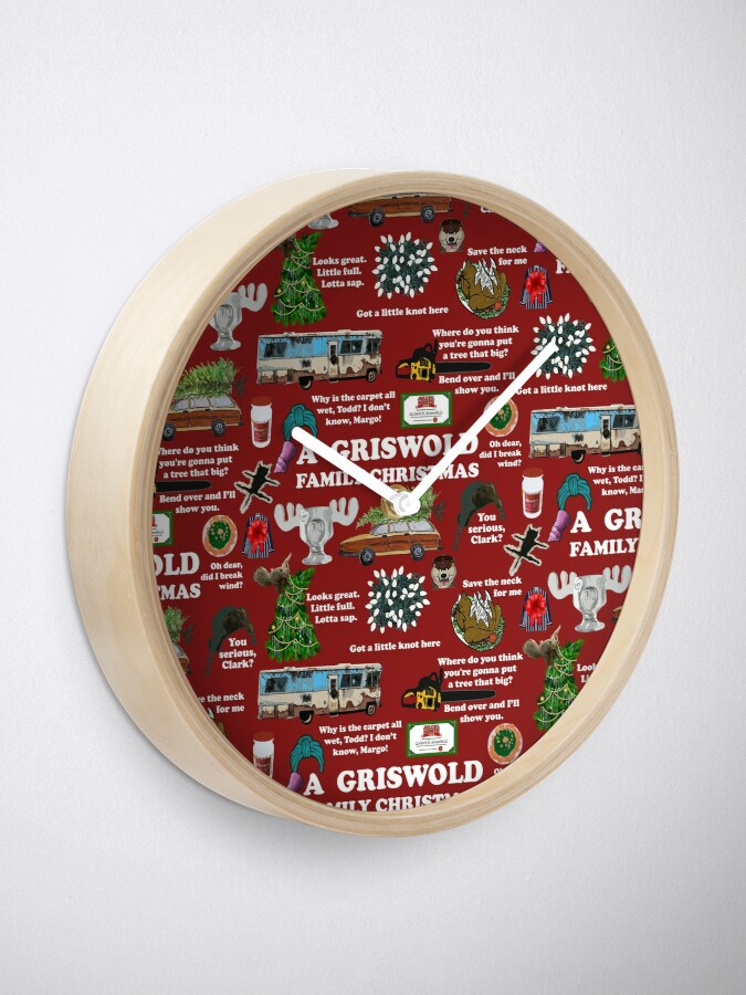 Alternate view of Christmas Vacation Collage Clock
