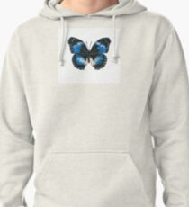 Blue Diadem Butterfly Pullover Hoodie