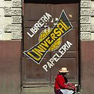 A message on the door - Bolivia by Christophe Dur