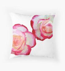 Triangular Rose Throw Pillow