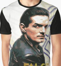 Falco Art Deco-Style Graphic T-Shirt