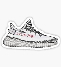 bcb1afea62cb3 Yeezy 350 Boost Zebra Minimalist Illustration Sticker
