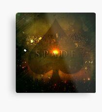 Spade Metal Print