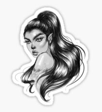 Werewolf Babe Sticker