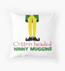 Cotton headed Ninny muggins, Elf Throw Pillow