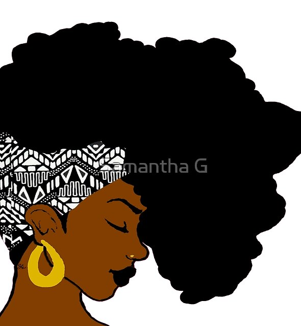 Fro African B&W by Samantha G