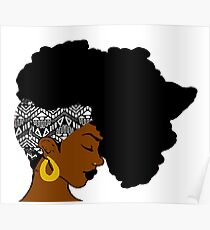 Fro African B&W Poster