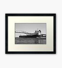 Whitefish Bay and Blue Water Bridge 2 BW Framed Print