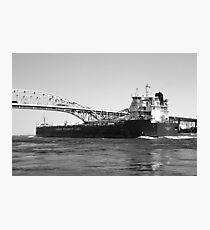 Whitefish Bay and Blue Water Bridge 2 BW Photographic Print