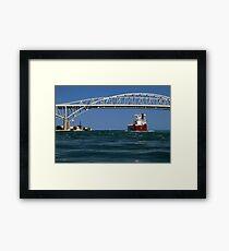 Whitefish Bay and Blue Water Bridge Framed Print