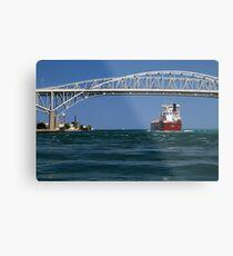 Whitefish Bay and Blue Water Bridge Metal Print
