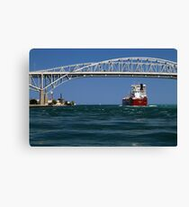 Whitefish Bay and Blue Water Bridge Canvas Print