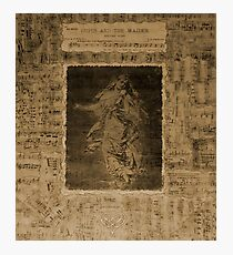 Music patchwork encaustic wall hanging.  Photographic Print