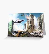 SCIFI CITY Greeting Card