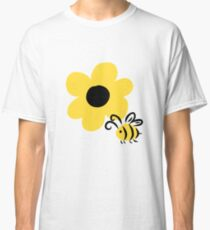 Flower and Bee Classic T-Shirt