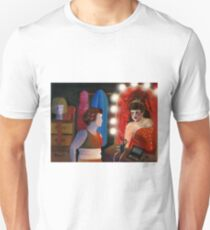Red Dancer Reflecting in a Dressing Room Mirror T-Shirt