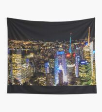 New york night Wall Tapestry