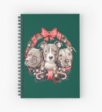 It's a Pit Bull Christmas Spiral Notebook