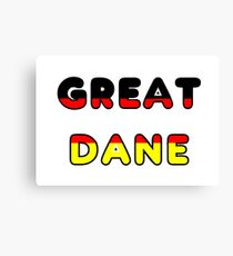 great dane flag in name Canvas Print