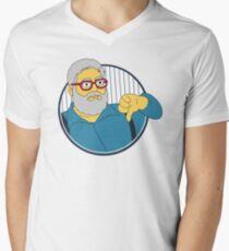 Yankees Thumbs Down Guy Men's V-Neck T-Shirt