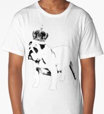 English Bulldog and Crown Long T-Shirt