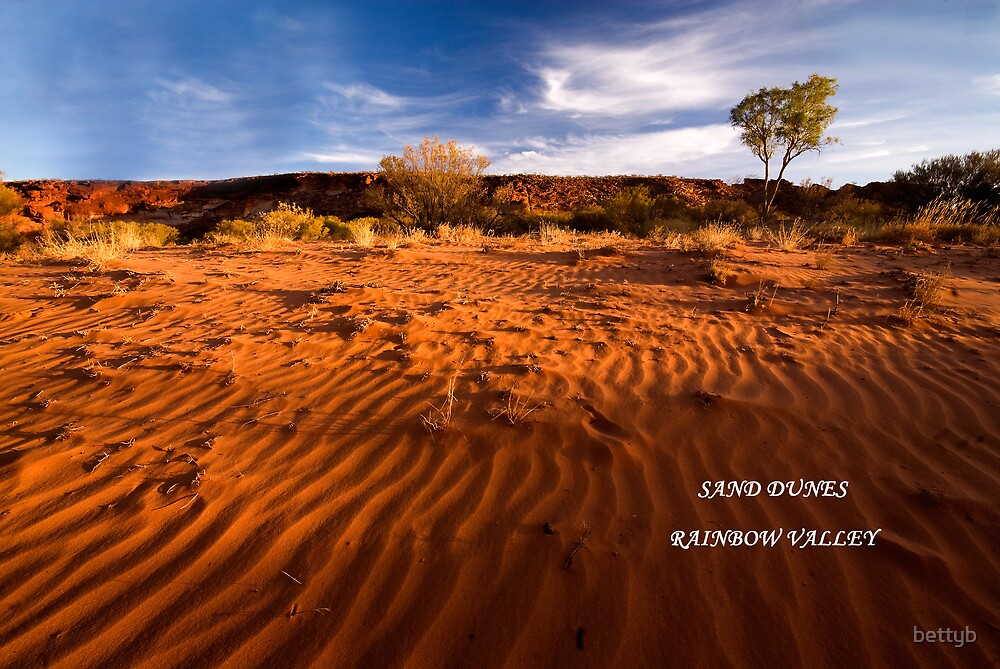 Sand Dunes Rainbow Valley by bettyb