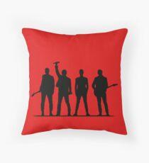 U2 silhouette The Joshua Tree Tour Throw Pillow
