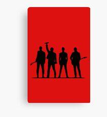 U2 silhouette The Joshua Tree Tour Canvas Print