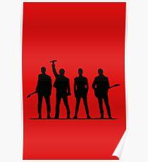 U2 silhouette The Joshua Tree Tour Poster