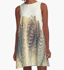 Feather Dip A-Line Dress