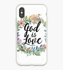 Christian Quote - God Is Love - 1 JOHN 4:16 iPhone Case