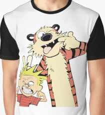 Calvin and Hobbes Making Faces Graphic T-Shirt