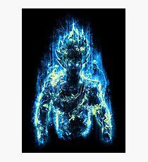 Goku ssj god blue Photographic Print