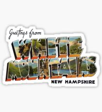 Greetings from the White Mountains, New Hampshire Sticker