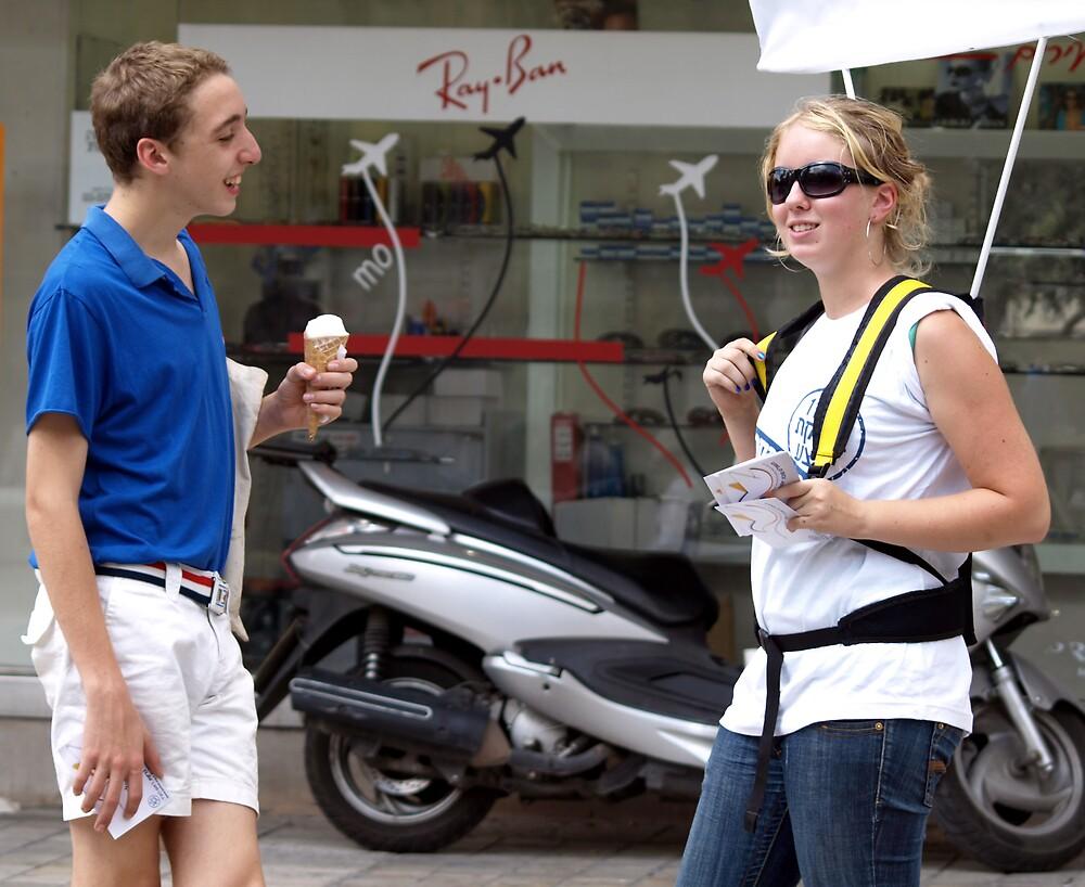 Flirting with ice cream by MichaelBr