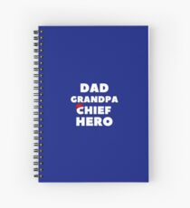 Igbo Themed Design - Dad Grandpa Chief Hero (white letters) Spiral Notebook