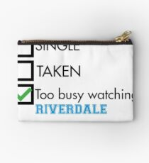 too busy watching Riverdale Studio Pouch