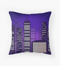 Cityscape Digital Art Throw Pillow