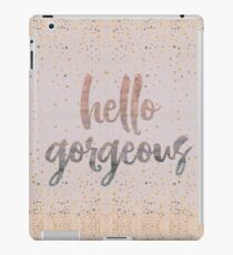 Hello Gorgeous Lilac Periwinkle Rose Gold Confetti iPad Case/Skin