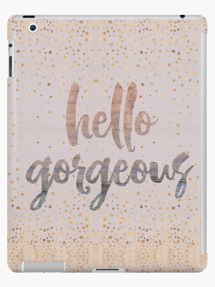 Hello Gorgeous Lilac Periwinkle Rose Gold Confetti by Beverly Claire Kaiya