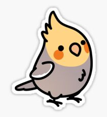 Chubby Cinnamon Cockatiel Sticker