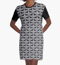 Dachshund Silhouette(s) Graphic T-Shirt Dress
